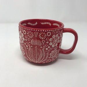 World Market Red Ceramic Scandinavian Mug